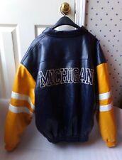 Vtg Classic Steve Barrys University of Michigan Polyvinyl Jacket Size Large L