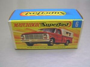 Matchbox Superfast Transitional MB6 Ford Pick-up truck box only Superb mint