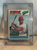 Collectible Vintage 1977 Topps Card #347 George Foster Baseball Cinci Reds