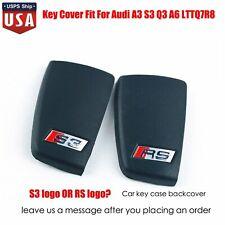 S3 RS logo Car key case back cover Three-button Fit Audi A3 S3 Q3 A6 LTTQ7R8 US