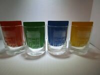 Bell Telephone 1977 Set of 4 Vintage Glass Tumbler White Etched Telephones