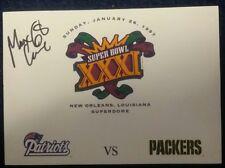 Super Bowl XXXI Post Card Cache signed auto MAX LANE