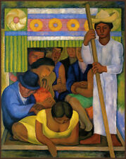 36cdc106c24b The Flowered Canoe by Diego Rivera Giclee Canvas Print Repro