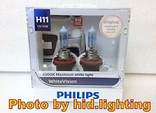 Genuine Philips WhiteVision White Vision H11 4300K headlight 12362 WHV light