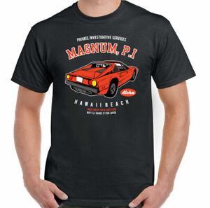 Magnum PI T-Shirt Private Investigator Mens Funny TV Show 80's Programme Retro