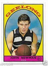 1968 A Scanlens (21) John NEWMAN Geelong # Near Mint #