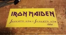 IRON MAIDEN STICKER NEW 1988 VINTAGE OOP RARE COLLECTIBLE RADIO PROMO