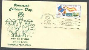 W138- FDC of Pakistan Universal Children Day 1973.