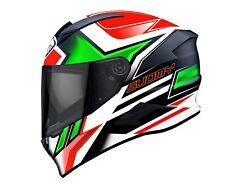Casco Suomy Ksvr0016 Speedstar Asymmetric Verde Rosso S