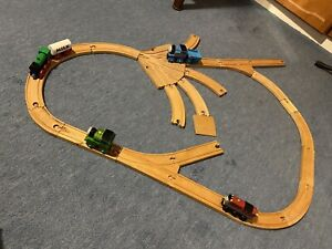 Wooden Railway Track And Trains Thomas The Tank Engine Percy Salty