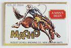 Macho Beer FRIDGE MAGNET label sign cowboy rodeo