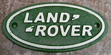 "SUPERB HEAVY SMALL CAST IRON ADVERTISING SIGN FOR "" LAND ROVER "" 7"" LONG"