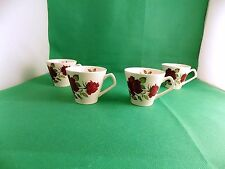 Lord Nelson Potery Red Roses Tea Cups x 4