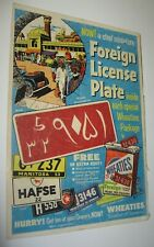 Vintage 1953 Wheaties Foreign License Plates AD Daisy Rifle Red Ryder FREE Ship