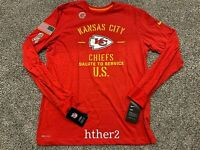 Kansas City Chiefs 2019 Nike Salute Service Long Sleeve Shirt Super Bowl Small