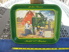 """John Deere Model """"A"""" Pint Sized Shadow Metal Tray~2001~Made In USA"""
