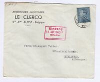 Belgium 1940 Commercial Cover To Germany German Censor Postal History J3110