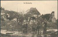 "1916 Deutsche Feldpostkarte ""In Givenchy"" Inf. Rgt. 163 Stab I. B Feldpost 17..."
