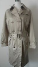 Laura Clement La Redoute Creation Pale Gold Belted Trench Coat Pre Loved sz 12