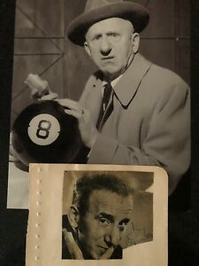 GENUINE HAND SIGNED VINTAGE JIMMY DURANTE INDEX CARD WITH PHOTO