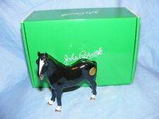 John Beswick Riding Pony Black Horse JBH49 Figurine NEW Boxed Gift Present