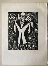 Frans Masereel, Frans Masereel Original-Holzschnitt, Kunst, Holzschnitt,