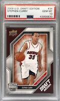 2009-10 Upper Deck Draft Edition Stephen Curry RC Rookie Card MVP PSA 10 Gem Hot