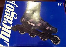 Chicago Jr Aerodynamic Two Piece Hinged Boot Skate Roller Blade Crs 1000 Nib