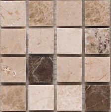 Positano Beige 2.5x2.5 Tile Marble Stone Mosaic Sample Tile