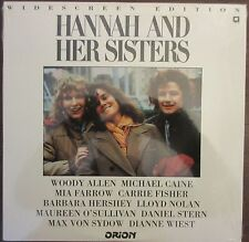 Hannah and Her Sisters (1986) - USA Laserdisc - Woody Allen, Michael Caine