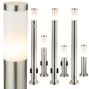 LED Standleuchte Pollerleuchte Wegeleuchte Steckdose Bewegungssensor E27 230V