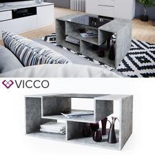 VICCO Couchtisch Gabriel Beton 100cm Sofatisch Kaffeetisch Beistelltisch Ablage