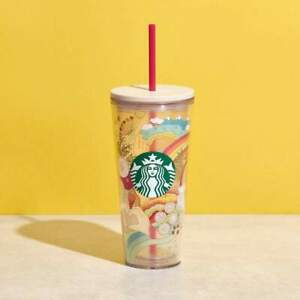 Starbucks Joy of Connection Clear Plastic Tumbler 20oz Cold Cup with Straw  New