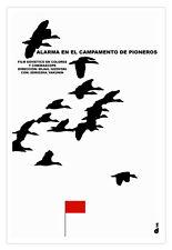 Cuban decor Graphic Design movie Poster.PIONEROS Camping.Red Flag art film.