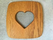 """Longaberger"" Like Cake Basket Lid with Heart Insert"