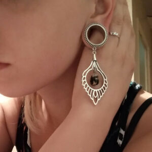 1 Pair Stainless Steel Vintage Pendant Ear Plugs Body Jewelry Ear Tunnel Gauges