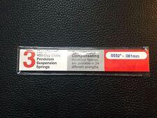 KUNDO & Koma  400 DAY CLOCK .0032 SUSPENSION 3 Spring Wires - HOROLOVAR