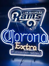 """New Los Angeles Rams Corona Official Beer Neon Sign 24"""" with HD Vivid Printing"""