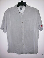Mens The North Face Short Sleeve Button Up Shirt Size Medium M