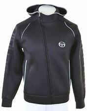 SERGIO TACCHINI Mens Hoodie Sweater Medium Black Polyester  EO17
