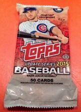 2015 Topps Update Series Jumbo Baseball Unopened Pack of 50 Cards