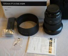 MINT SIGMA Art 105mm F1.4 DG HSM for Canon EF L@@K! usable w Fuji GFX50S GFX100
