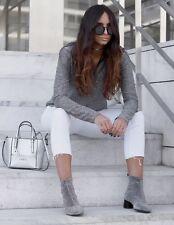 Zara Shiny Sock Boots Silver Heels Size UK 5 BNWT Rrp £49.99 last One!!