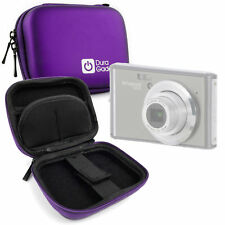 Durable Hard EVA Purple Camera Case For Polaroid IS626 w/ Belt Clip + Dual Zips