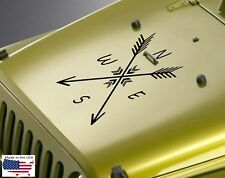 "NEW ARROW COMPASS Hood Door Vinyl Decal Truck 22"" x 22"" (Fits Jeep Wrangler)"