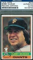 Bobby Murcer Autograph 1976 Topps Psa/dna Signed Authentic