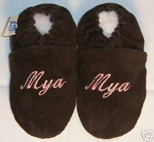 custom made  MONOGRAM soft sole SUEDE shoes 12-18 MTHS