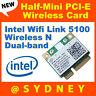 NEW Intel 512ANHU Wireless N Dual-band Half-Mini PCI-E WIFI WLAN Card 43Y6517