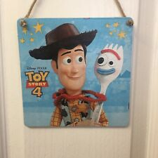 Disney Toy Story 4 Woody & Forky Wooden Handmade Plaque Sign bedroom Decor Gift