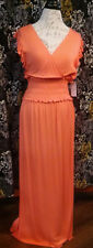 Time and Tru Maxi Dress Size Small (4-6) Womens Semi Fitted Sundress Coral New!